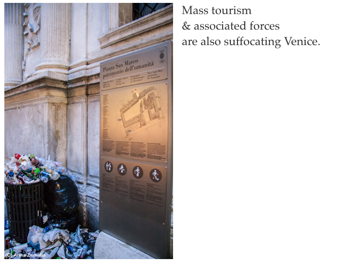 Mass tourism suffocating Venice