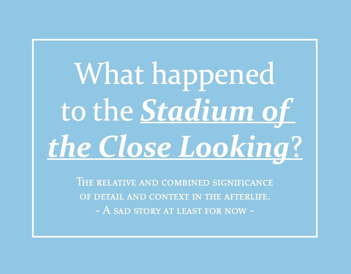 What Happened To The Stadium Of Close Looking? VILLA FRANKENSTEIN (2012 Architecture Biennale)