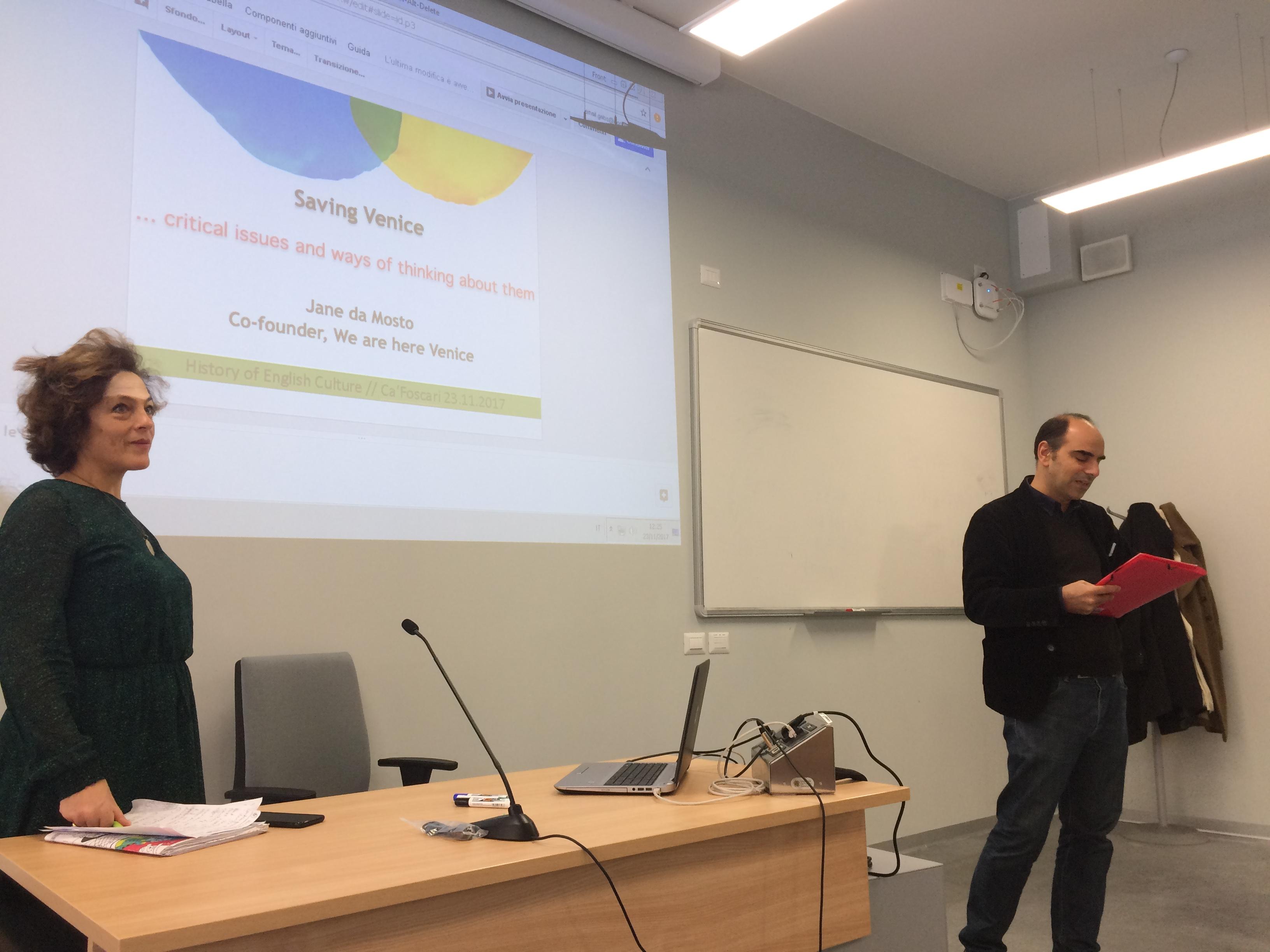 Wahv At Università Ca' Foscari, A Lesson By Jane Da Mosto