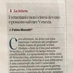 Our Supporter Fabio Moretti Responds To Paolo Costa's Strategies For The Revitalisation Of Venice In The Corriere Del Veneto