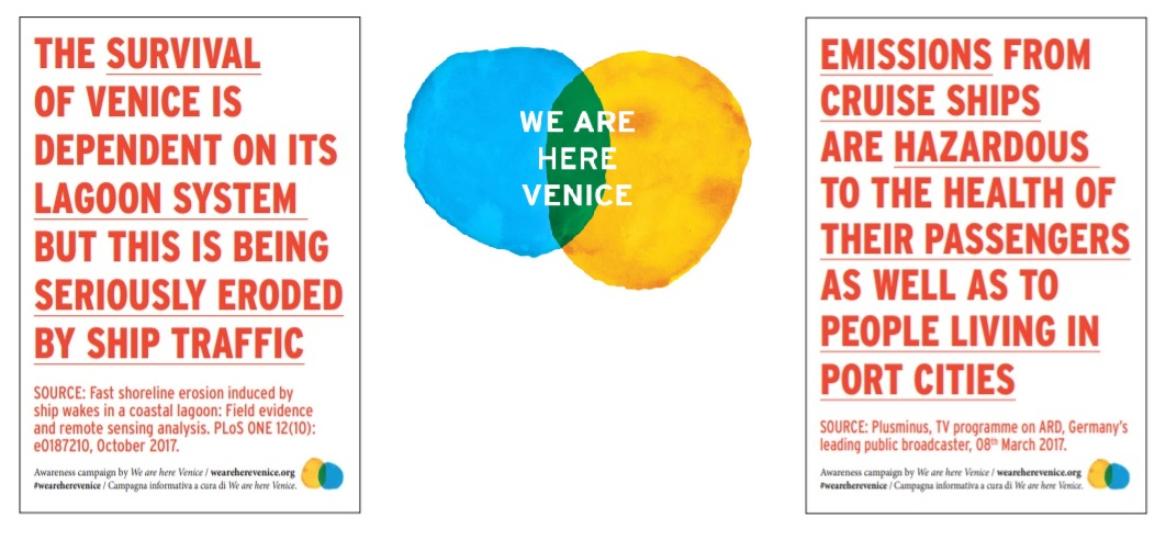 WE ARE HERE VENICE'S STICKER CAMPAIGN