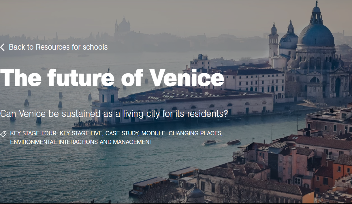 Explore Our Venice Resource On The Royal Geographical Society Website