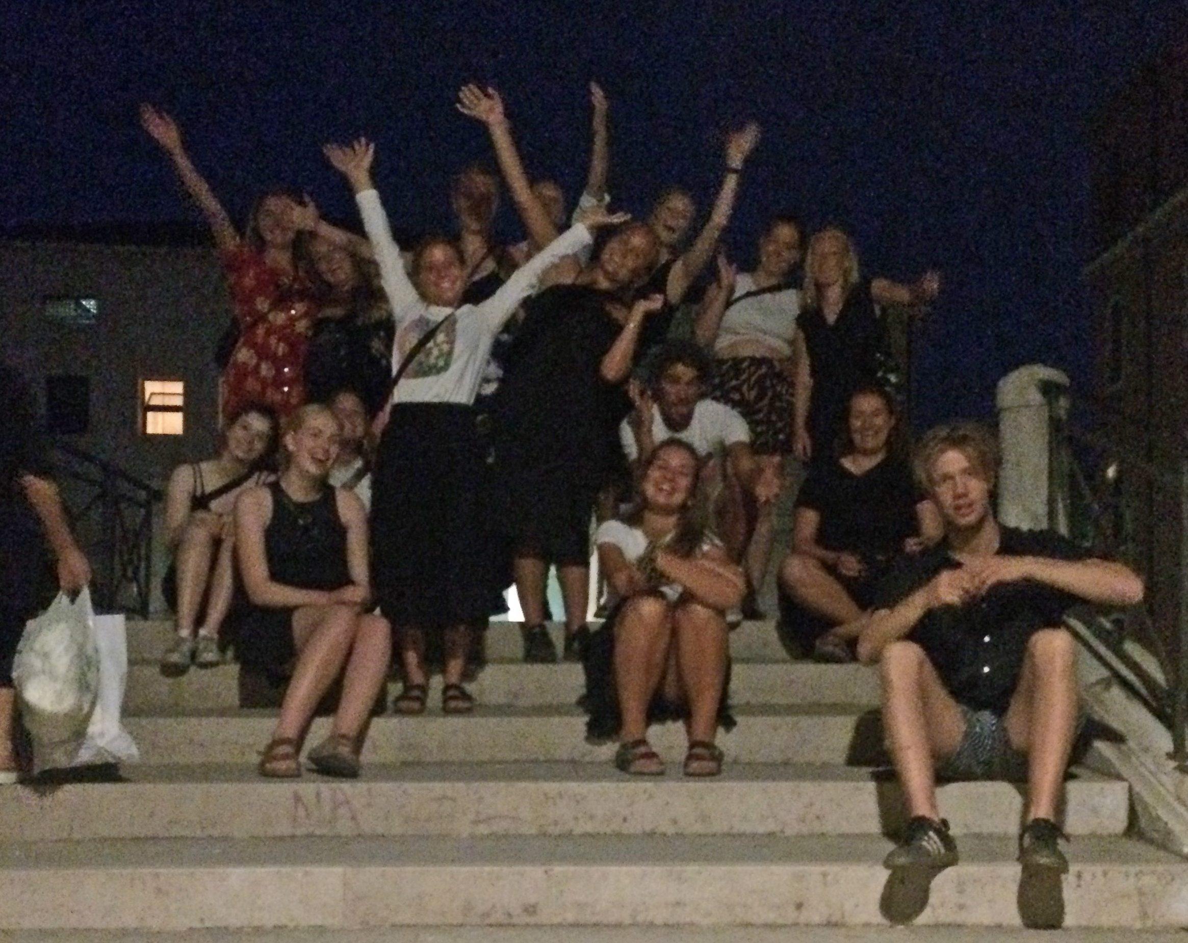Esplorazione Notturna Di Sant'Elena Con Gli Studenti Del Krogerup College Di Humlebaek, Danimarca