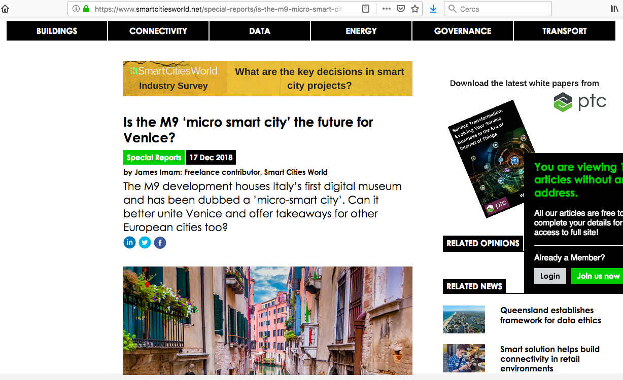 Is The M9 'micro Smart City' The Future For Venice?