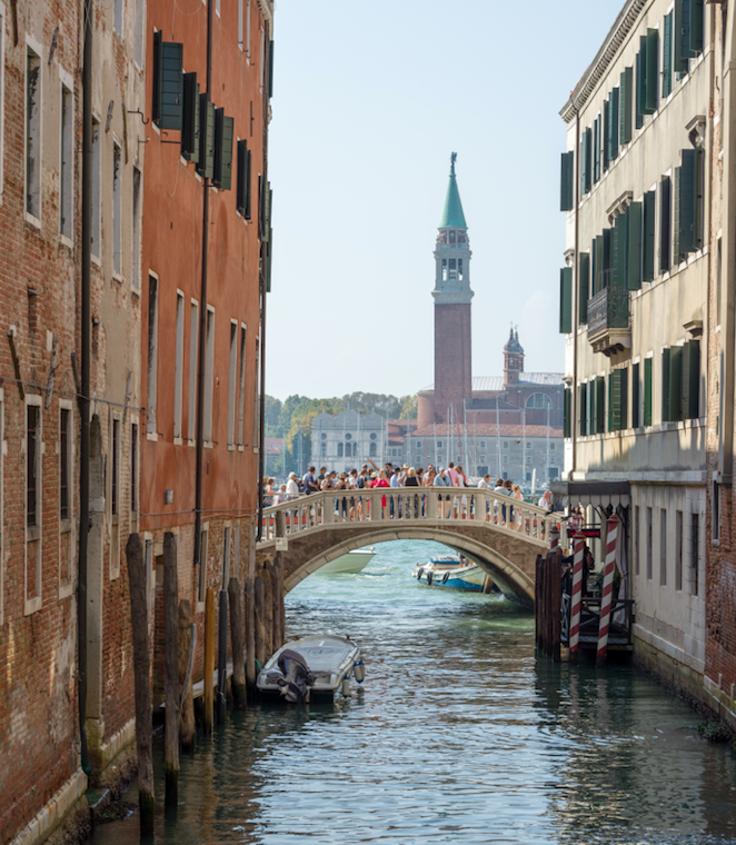 The Beginning Of Peak Tourist Season In Venice And Media Coverage
