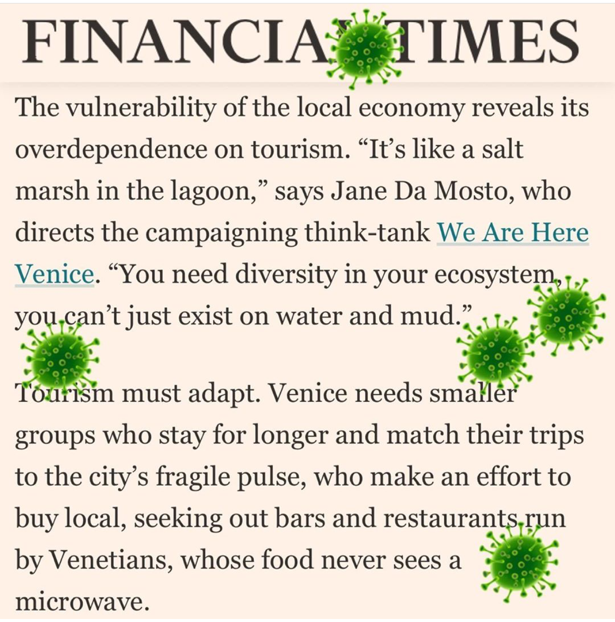 Financial Times 26.02.2020: Coronavirus Stirs The Waters Of Venice